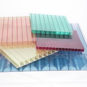 Разноцветный поликарбонат сотовый Berolux /Woggel (2,1*12 м, 16 мм)