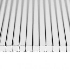 Прозрачный сотовый поликарбонат Кинпласт (2,1*6 м, 25 мм)