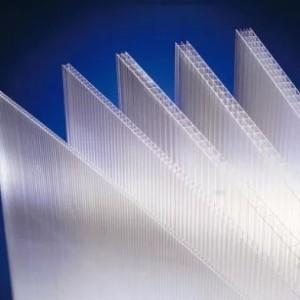 Прозрачный сотовый поликарбонат Кинпласт (2,1*12 м, 25 мм)