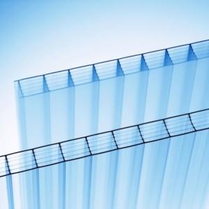 Кинпласт прозрачный сотовый поликарбонат (2,1*12 м, 20 мм)