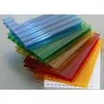 Разноцветный поликарбонат сотовый Woggel (2,1*6 м, 6 мм)