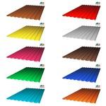 Профилированный монолитный поликарбонат  (цветной), 0.8 мм